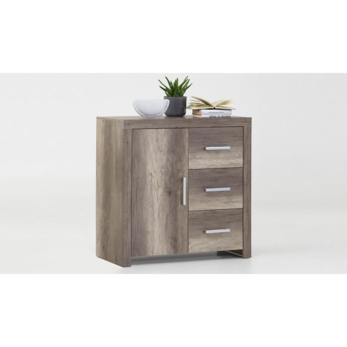 bahut 1 porte 3 tiroirs ch ne fonc kooc achat vente buffet bahut bahut 1 porte 3 tiroirs. Black Bedroom Furniture Sets. Home Design Ideas
