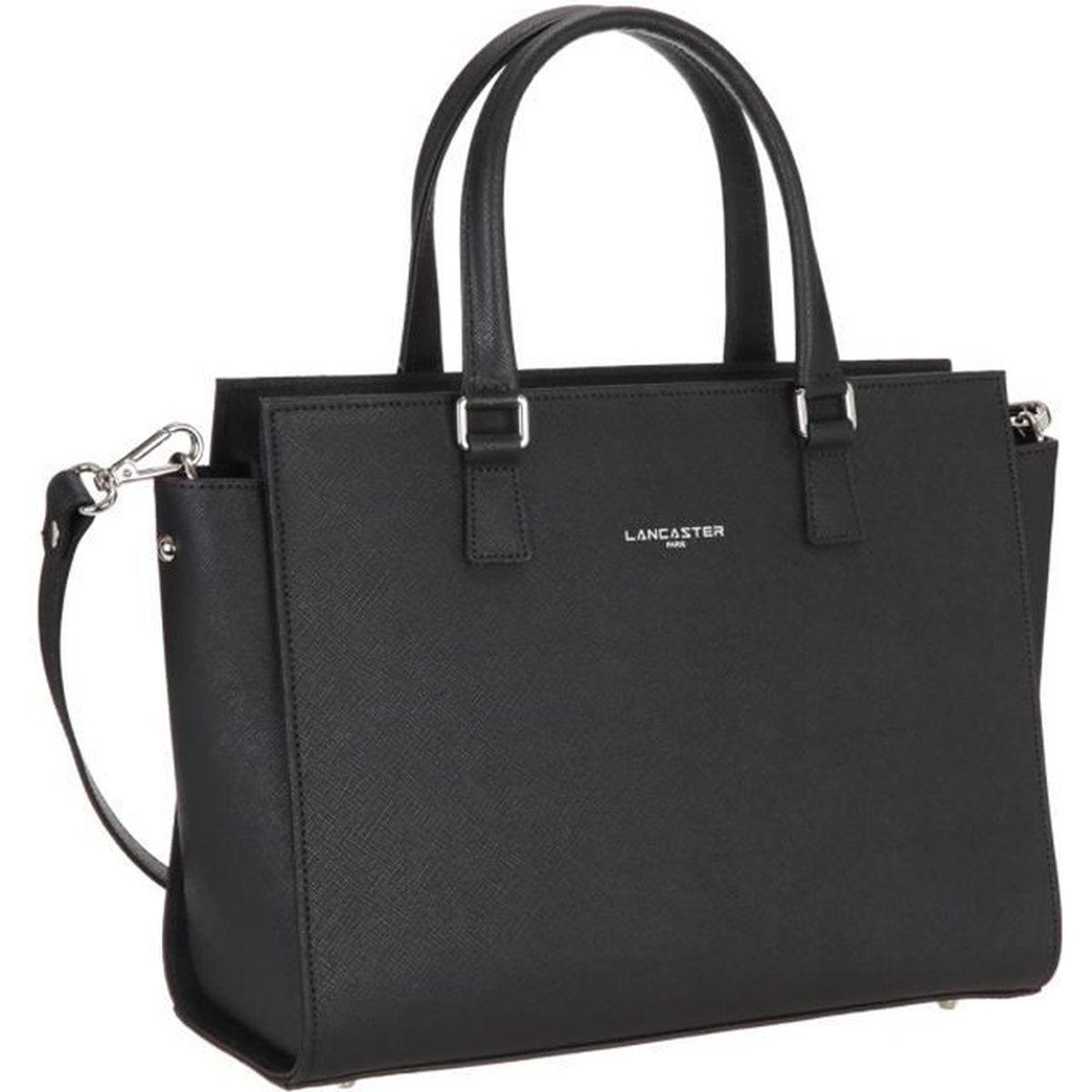 lancaster sac main cuir de vachette adele 31 cm noir femme achat vente lancaster sac. Black Bedroom Furniture Sets. Home Design Ideas