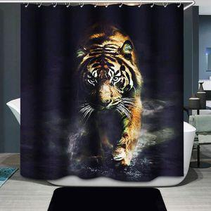 RIDEAU DE DOUCHE tigre impression rideau de douche accessoire salle