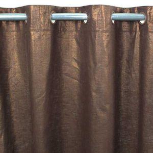 rideaux chocolat en lin achat vente rideaux chocolat en lin pas cher cdiscount. Black Bedroom Furniture Sets. Home Design Ideas