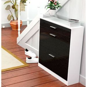 commode noir et blanc dans chambre achat vente commode. Black Bedroom Furniture Sets. Home Design Ideas
