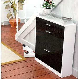 commode noir et blanc dans chambre achat vente commode. Black Bedroom Furniture Sets. Home Design Ideas