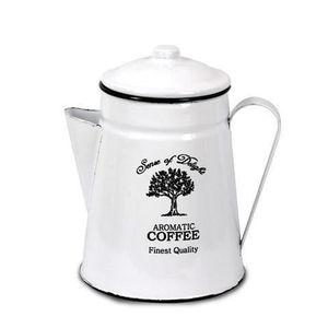 CAFETIÈRE - THÉIÈRE Pot Pour Café, Vintage, Blanc 18 cm