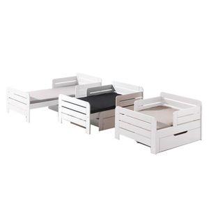 lit evolutif complet achat vente lit evolutif complet pas cher soldes cdiscount. Black Bedroom Furniture Sets. Home Design Ideas