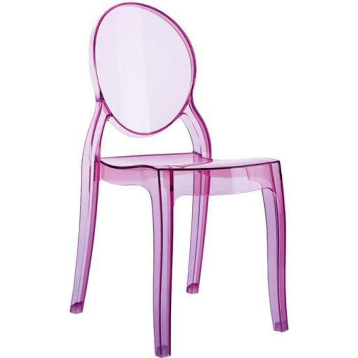 Chaise enfant plastique achat vente chaise enfant plastique pas cher cd - Chaise transparente rose ...