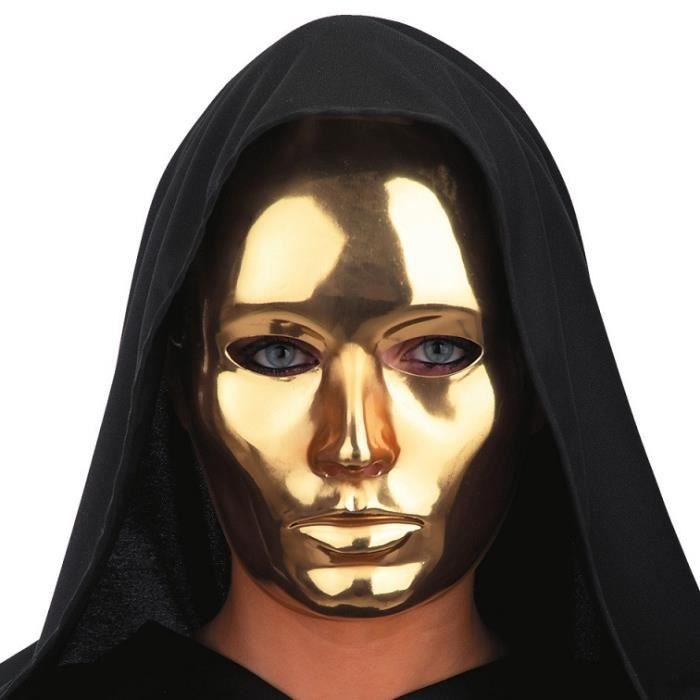 masque dcor visage masque visage chrom chrome jaune or aspect me