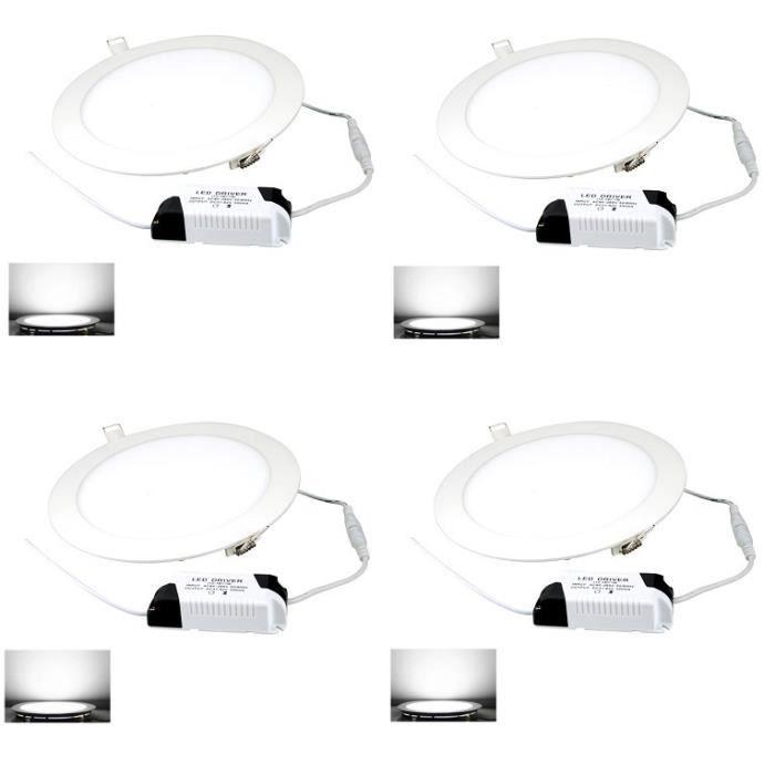maison ampoules led halogenes  spot panel encastrable w blanc froid k f auc