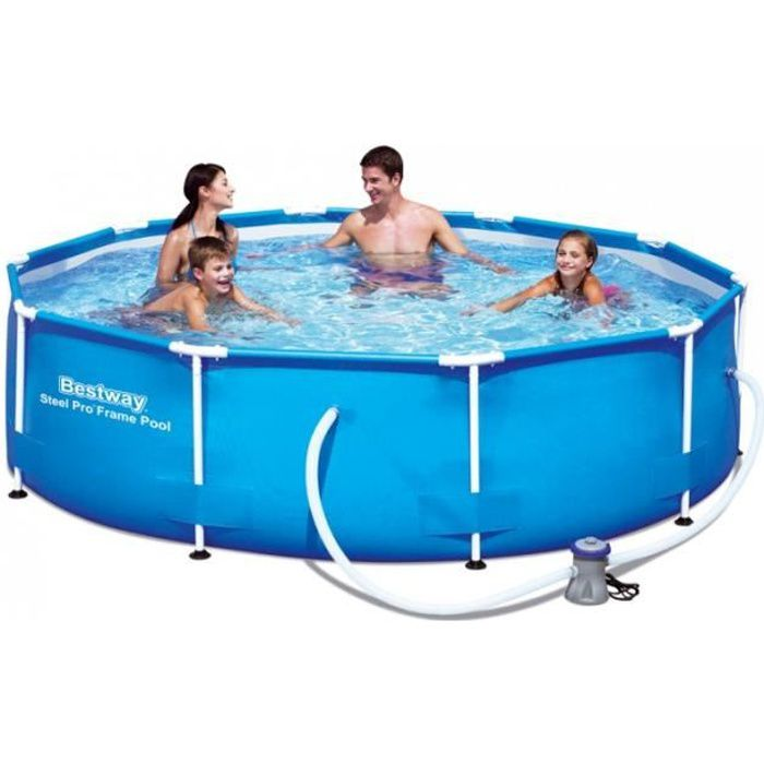 maison jardin plein air piscine tubulaire bestway ronde d  x h cm f auc