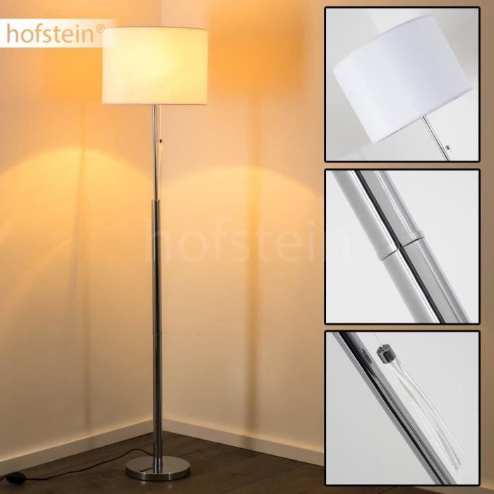 Lampadaire m tal tissu lampe sur pied luminaire achat for Lampadaire exterieur sur pied
