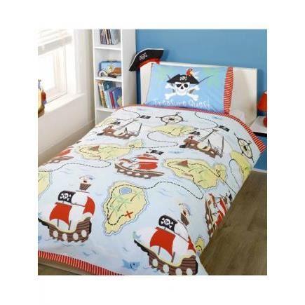 chasse au tresor parure de lit 140cm achat vente parure de drap cdiscount. Black Bedroom Furniture Sets. Home Design Ideas