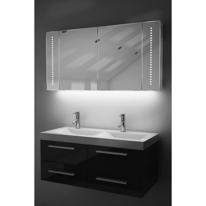 Miroir de salle de bain avec capteur et prise rasoir interne k125w blanc taille l 600mm x l - Miroir salle de bain avec prise ...