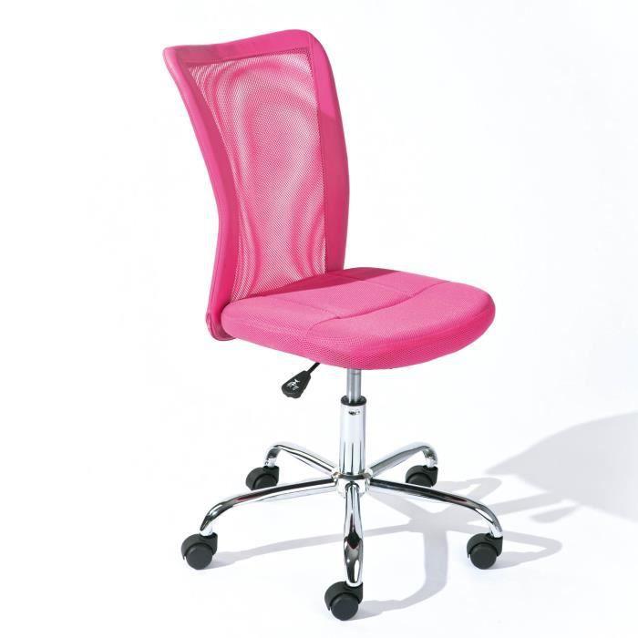 Chaise de bureau bonnie m tal chrom mesh pu pi achat vente chaise de bu - Chaise de bureau cdiscount ...
