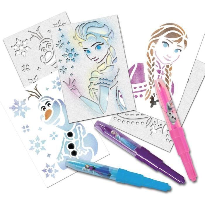 la reine des neiges kit blopens pochoirs frozen achat vente jeu de mode couture. Black Bedroom Furniture Sets. Home Design Ideas