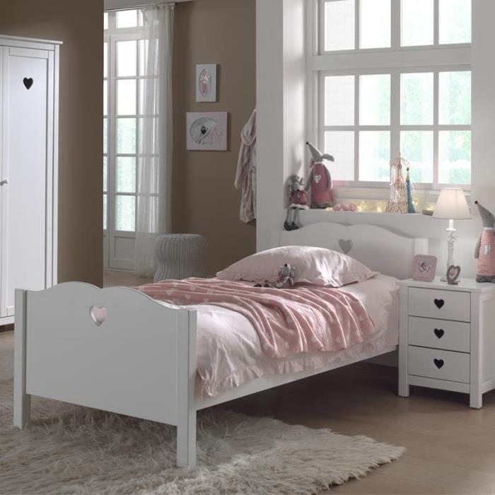 paris prix lit enfant amori blanc achat vente lit complet paris prix lit enfant am. Black Bedroom Furniture Sets. Home Design Ideas