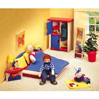 Chambre coucher en bois ronda achat vente maison poupee cdiscount - Chambre a coucher cdiscount ...