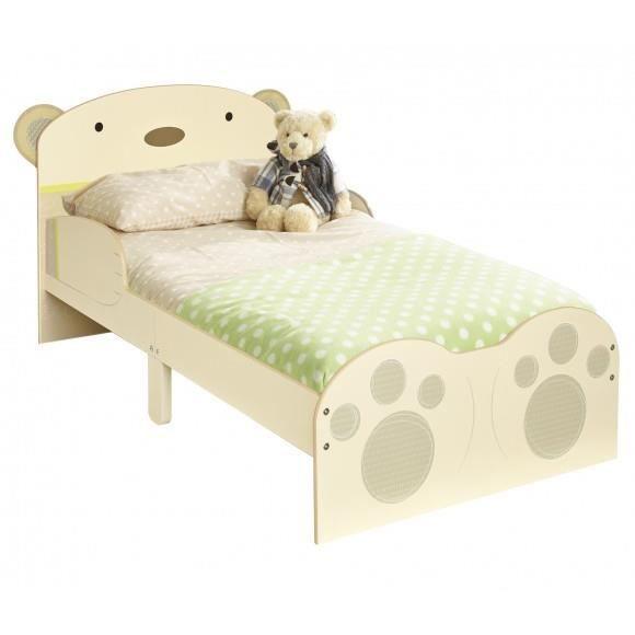 lit enfant simple ours simple barri re s curit 70 x 140 achat vente lit b b 2009927694529. Black Bedroom Furniture Sets. Home Design Ideas