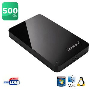 """DISQUE DUR EXTERNE Intenso Memory Station 2,5"""" 500 Go"""
