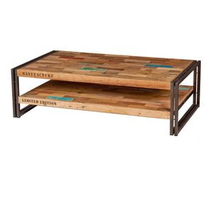 Table basse bois recycl achat vente table basse bois recycl pas cher - Soldes tables basses ...