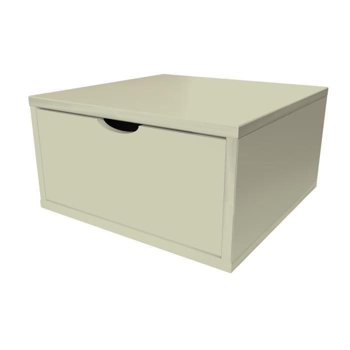 Cube de rangement largeur 50cm tiroir achat vente for Meuble 45 cm largeur
