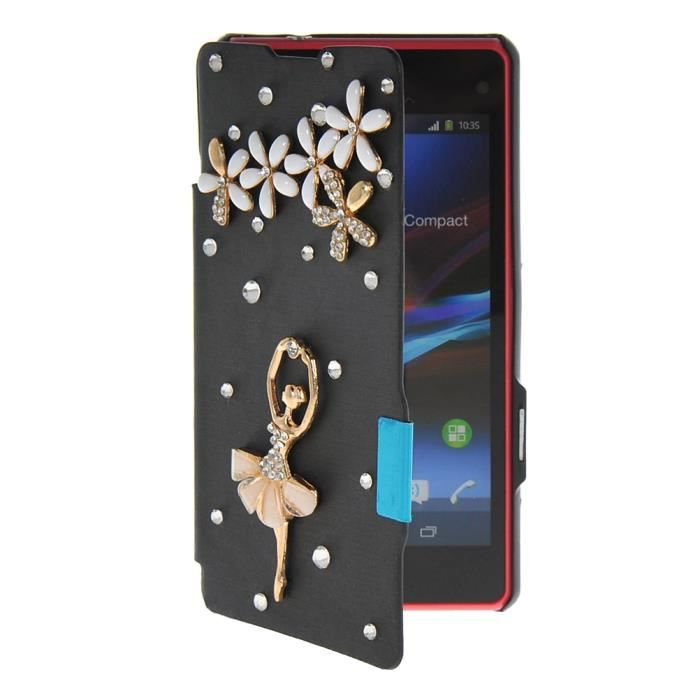 Coque housse tui sony xperia z1 compact noir achat for Housse xperia x compact