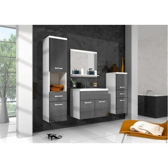 ensemble salle de bain baio noir et blanc achat. Black Bedroom Furniture Sets. Home Design Ideas