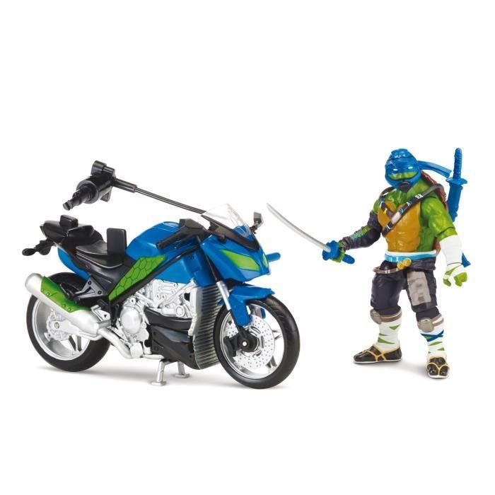 Figurine v hicule tortues ninja 2 leonardo et son - Vehicule tortue ninja ...