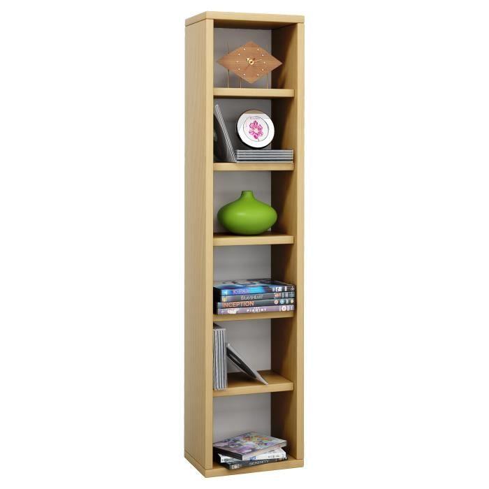 elementa tour de rangement biblioth que pour cd 102 pi ces h tre achat vente commode de. Black Bedroom Furniture Sets. Home Design Ideas