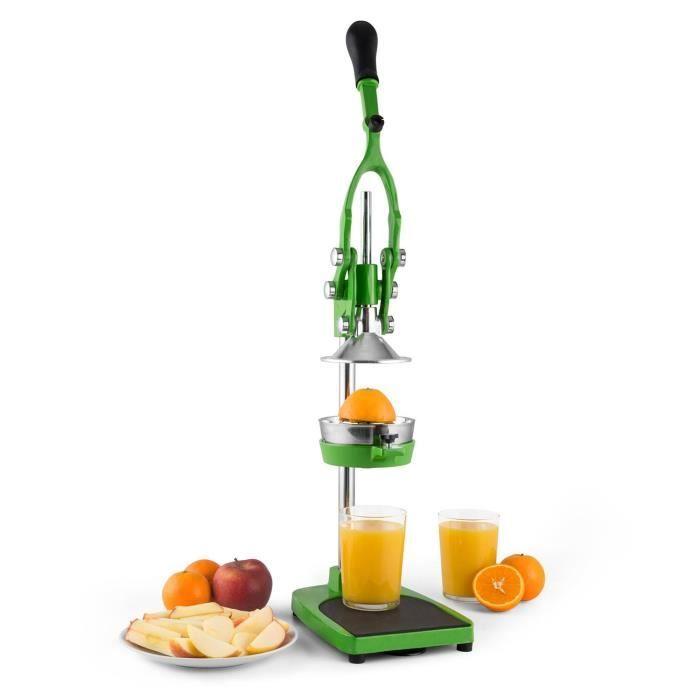 Klarstein trijuicer presse agrumes m canique levier avec syst me de coupe fruits et coupe - Presse agrume manuel a levier ...
