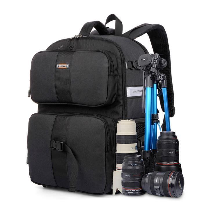noir sac a dos appareil photo imperm able pour canon pour. Black Bedroom Furniture Sets. Home Design Ideas