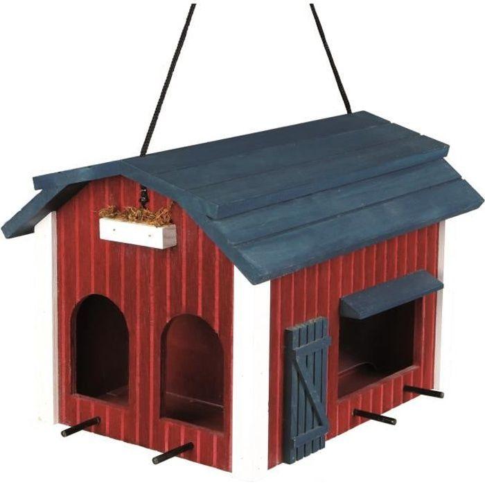 mangeoire a oiseaux en bois achat vente mangeoire a oiseaux en bois pas cher les soldes. Black Bedroom Furniture Sets. Home Design Ideas