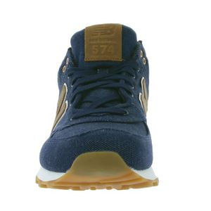 New Balance 574 Bleu Marine Et Orange
