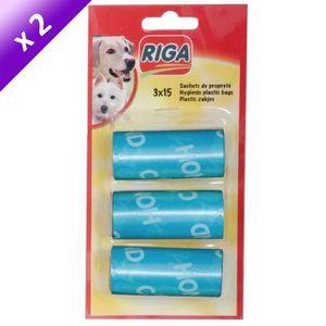 RIGA Lot de 2 Recharges sachets propreté GM pour chien