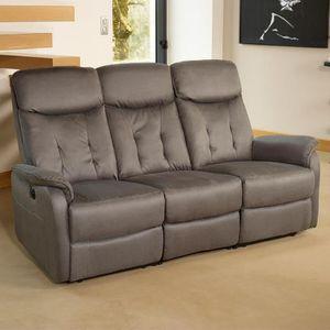 canape relax 3 places electrique achat vente canape. Black Bedroom Furniture Sets. Home Design Ideas