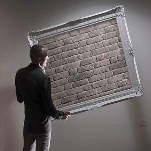 Papier peint trompe oeil achat vente papier peint trompe oeil pas cher cdiscount - Papier peint trompe l oeil brique ...
