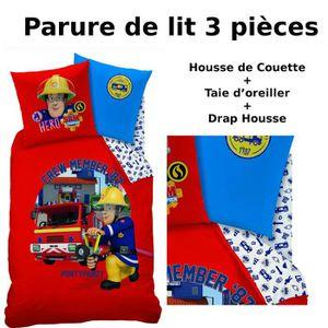 Parure de lit pompier achat vente parure de lit - Housse de couette sam le pompier ...