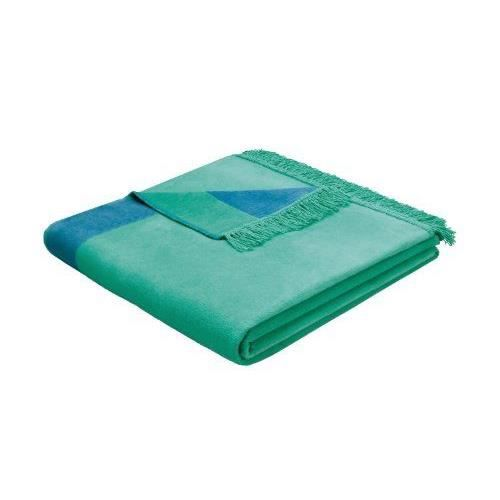 Bocasa biederlack orion couverture couvre lit en coton vert turquoise 150x200cm achat vente for Boutis turquoise