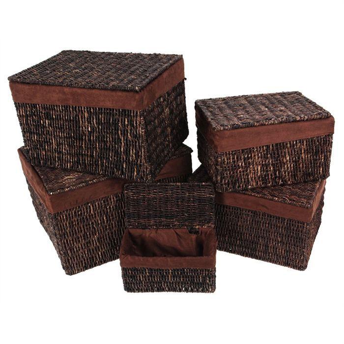 coffre x5 osier su dine achat vente coffre x5 osier su dine cdiscount. Black Bedroom Furniture Sets. Home Design Ideas