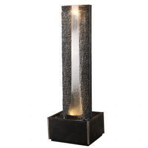 fontaine ext rieur flamme 2 180cm en schiste et achat vente fontaine de jardin fontaine. Black Bedroom Furniture Sets. Home Design Ideas