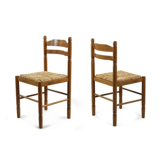 lot de 2 chaises en bois ch ne dor jeanne achat vente chaise bois ch ne h tre paille. Black Bedroom Furniture Sets. Home Design Ideas