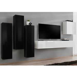 meuble mural vertical achat vente meuble mural vertical pas cher cdiscount. Black Bedroom Furniture Sets. Home Design Ideas