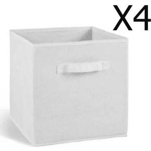 Cube de rangement tissu achat vente cube de rangement for Meuble 4 casier