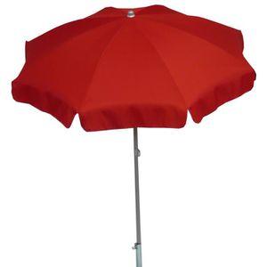 PARASOL Parasol rond centré coloris rouge, Dim : H 215 x D
