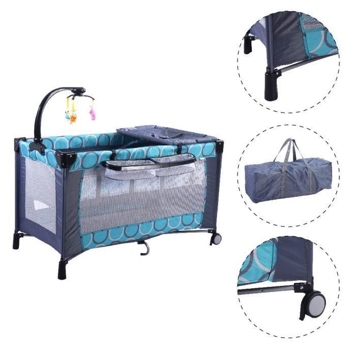lit b b pliant parc pour b b parapluie avec accessoires matelas lit de voyage achat vente. Black Bedroom Furniture Sets. Home Design Ideas