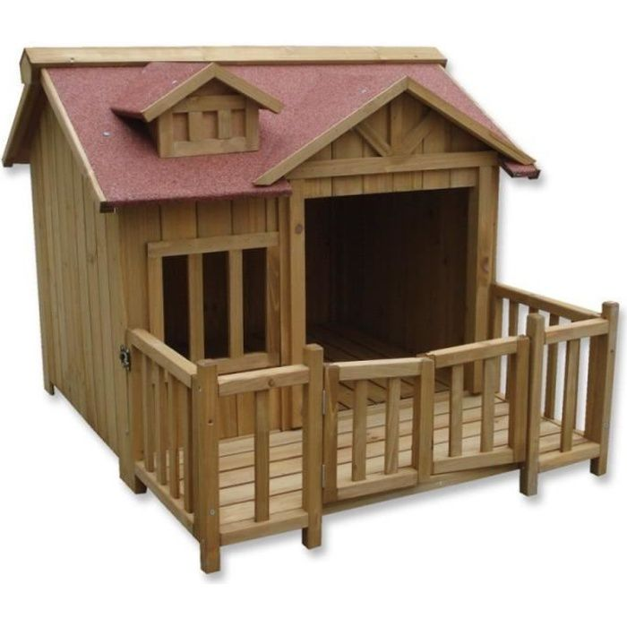 Niche pour chien xl chenil cabane chien en bois for Niche chien exterieur