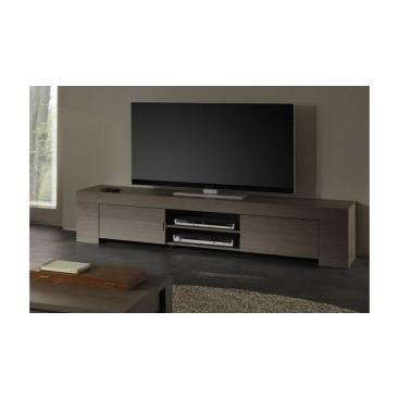 Meuble tv tristano en ch ne cendr achat vente meuble for Nabou meuble tv mural 319x207 cm chene cendre