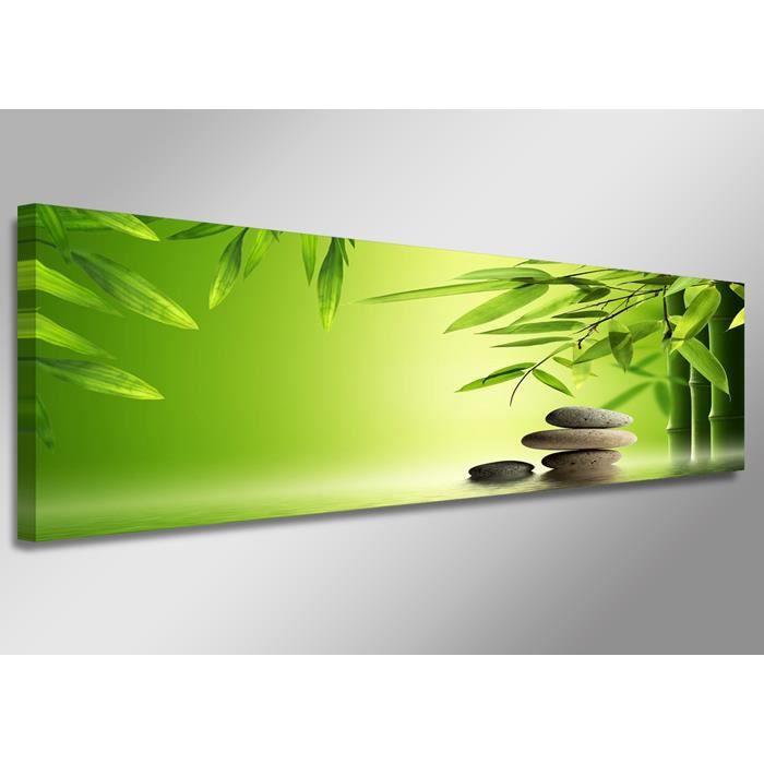 Tableau moderne imprim 120x40 cm zen achat vente for Tableau imprime sur verre