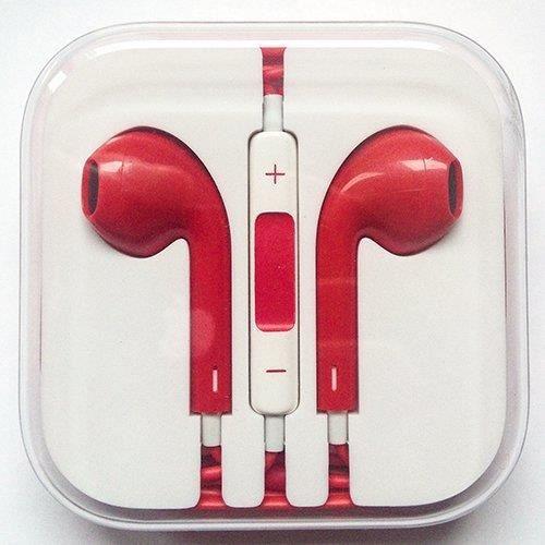 ecouteur pour iphone 5 earpods couleur rouge achat kit. Black Bedroom Furniture Sets. Home Design Ideas