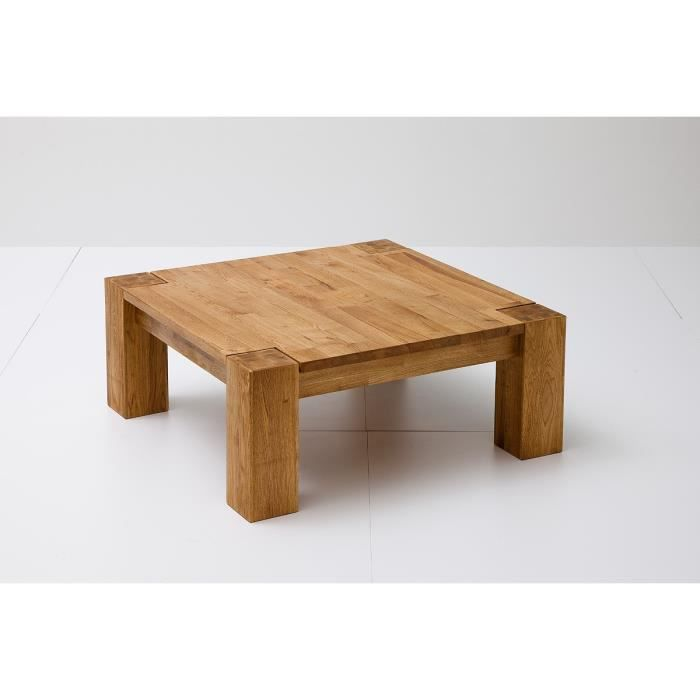 Table basse iverson l 85 x p 85 x h 35 cm achat for Table basse 85 cm