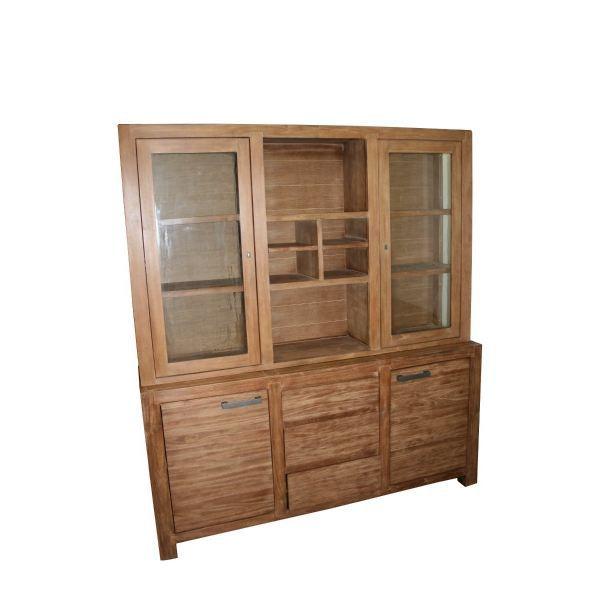 buffet en teck achat vente buffet bahut buffet en teck teck m tal cdiscount. Black Bedroom Furniture Sets. Home Design Ideas