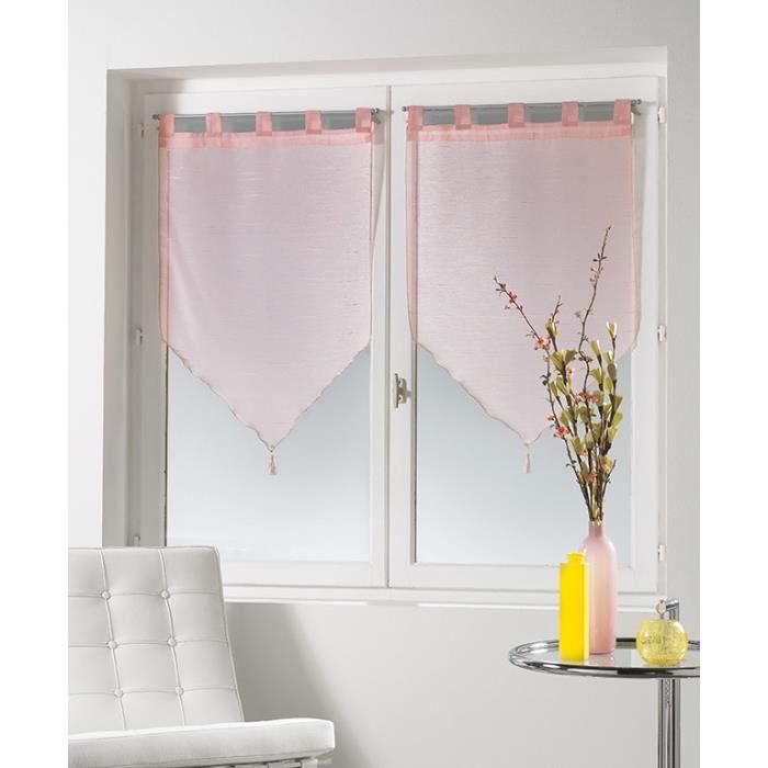 2 voiles pompons 60x120 sabl tilia dragee achat vente rideau cdiscount. Black Bedroom Furniture Sets. Home Design Ideas